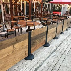 Wooden Cafe Barriers